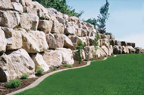 Rock retaining walls sa civil earthworks and landscaping for Landscaping rocks adelaide